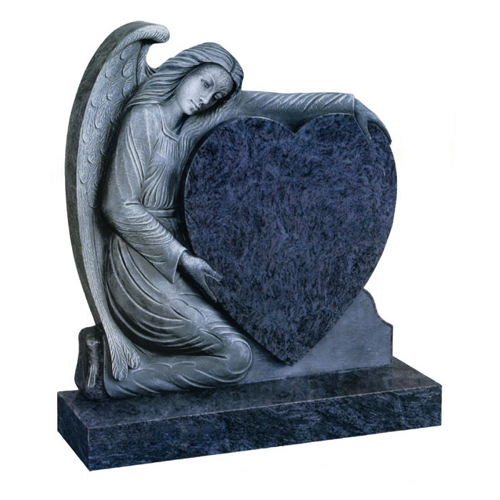 coeur d ange memorial in bahama blue granite