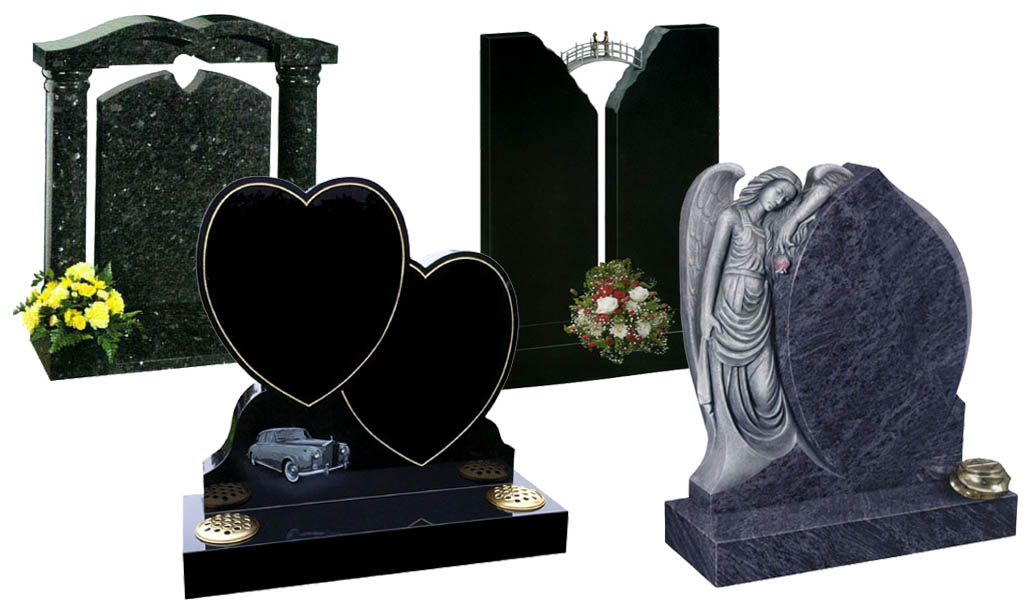 collection of headstones